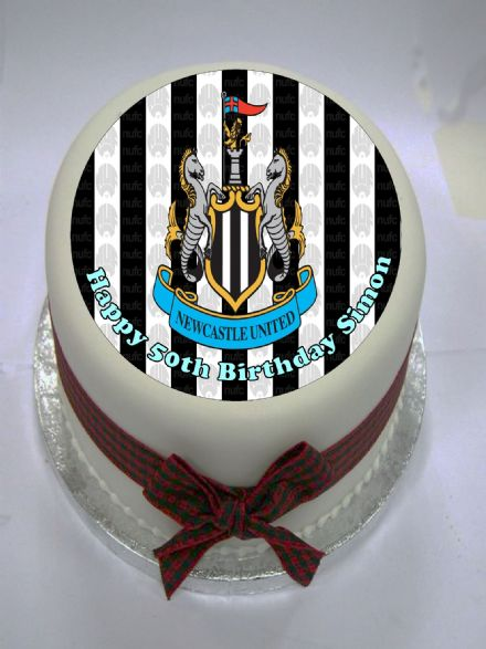 Newcastle Utd Edible Cake Topper